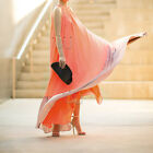 Sexy Boho Women Summer Long Maxi Evening Party Beach Orange Chiffon Dress NEW