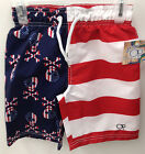 Op American Flag Skull & Crossbones Boys Swimsuit Swim Trunks Shorts Boardshorts