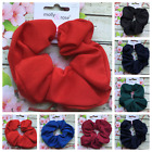 PLAIN JERSEY HAIR SCRUNCHIE PONYTAIL BAND ELASTIC FOR GIRLS ADULTS SCHOOL WORK