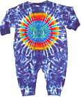Baby Kids TIE DYE Earth Bow L/S Romper hippie boho infant sizes 6 12 18 24 month