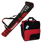 BRUBAKER Ski Bag Combo for Ski Poles Boots Helmet 66 7/8 or 74 3/4 Black Red
