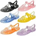 Ladies Spot On Closed Toe Jelly Shoe / Buckle Fastening