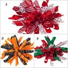1 Pair Holiday Korker Bows for Clip On Style Squeaky Shoes 3 1/2""