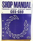 Honda Purpose ENGINE G65 G80 Model SHOP MANUAL  LOOSE LEAF Fair+