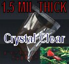 CRYSTAL CLEAR SELF ADHESIVE RESEALABLE CELLO OPP MULTI-SIZED PLASTIC BAGS 1.5MIL