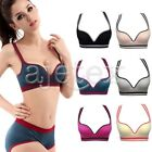 Fashion Women Racerback Yoga Exercise Sports Bra Padded Top Tank Tube Bra M/L