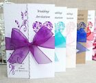 Personalised Gatefold wedding day evening invitations - FREE P+P- Many colours