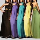 Strapless Empire Bridesmaid Wedding Party Chffion Long Full Dress Shawl Formal