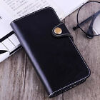 Genuine Real Cow Leather Card Stand Cover Case For Apple iPhone 5S SE 6 6S Plus