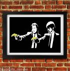 BANKSY PULP FICTION POSTER FRAMED WALL ART PRINT PICTURE SMALL/MEDIUM/LARGE