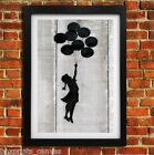 BANKSY BALLOON GIRL POSTER FRAMED WALL ART PRINT PICTURE SMALL/MEDIUM/LARGE