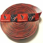 "1"" Houston Texans Block Grosgrain Ribbon by the Yard (USA SELLER) $10.95 USD on eBay"