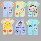 Newborn Baby summer cartoon Bodysuit Outfit Costume Romper Cotton Clothes Set