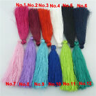 10PCS 80/95mm Handmade Soft Silky Tassel Pendant Bag Jewelry Findings Decoration