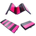 "4'x10'x2"" Folding Gymnastics Mat Gym Fitness Exercise Yoga Tumbling New image"