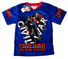 Avengers Captain America Civil War boys t-shirt Size 6,8,10,12 Age 3-7y FreeShip