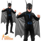 Child Bat Costume Boys Superhero Book Week Day Fancy Dress Outfit New