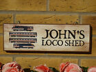 PERSONALISED MODEL TRAIN SIGN GARDEN SHED SIGN ENGINE SHED MODEL STATION TRACK