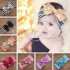 Hot Girls Baby Head Wrap Toddler Sequined Bow Striped Turban Headband Hair Band