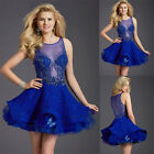 New Luxurious Beaded Short Homecoming Dress Party Prom Gowns Bridesmaid Dresses