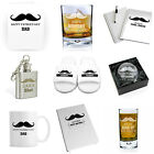 Personalised Moustache Gift Ideas for Men Dads Birthday Father's Day Christmas
