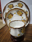 ELIZABETHAN - YELLOW ROSE - TEACUP, SAUCER AND PLATE