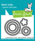 Let's Bokeh Photopolymer Clear Stamps & Custom Craft Dies -Lawn Fawn LF978 LF979