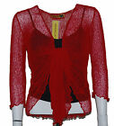 LADIES EXTRA LARGE 14-22  CROP SHRUG BOLERO TOP LIGHT WEIGHT CREASE PROOF KNIT