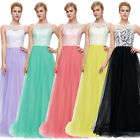 Long Lace Bridesmaid Formal Maxi Dress Party Evening Prom Ball Gown Size 6 8 10+