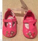 Gymboree NWT Pink FLORAL BUTTON FAUX LEATHER PATENT CRIB MARY JANE SHOES US 1 2