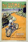 A3/A4 SIZE - Moto Ultima French Motorcycle Poster Old Vinntage Print Picture