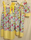 "Choose BEACH PRINT Girls  5 or 6 Pillowcase Dress or 18"" American Girl Dress New"
