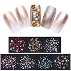 Nail Art Dangle Beaded Charms Stud Ring & Dotting Tool Decoration Gold/Silver