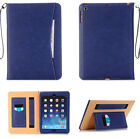 Smart Strap Business PU Leather Wallet Stand Case Cover For iPad 2 3 4/Air2/Mini