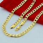 4/6/8/10 mm 24K Yellow Gold Filled Rope Chain Necklace 20 22 24 26 28 30 inch