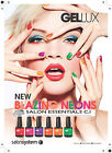 Salon System Gellux ** NEW NEON COLLECTION ** Soak Off LED Gel Polish