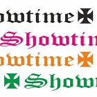 Showtime Aufkleber Design Tuning Car Sticker Heck & Frontscheibe