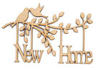 Wooden MDF Tree Branch Shape New Home Family Tree New Home Branch with Birds