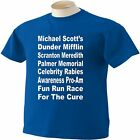 The Office TV Show T-Shirt Michael Scott Dunder Mifflin Race For The Cure