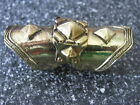 New Hot Antigued Vintage Gold Armour Knuckle Cage Full Finger Pyramid Ring