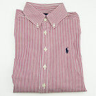 NWT New Polo Ralph Lauren Boys Red Striped Long Sleeve Casual Shirt Size: S (8)