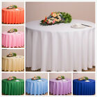Plain Circular Round Table Cloths Solid Clean Wipe Dining Table Cloth Tableware