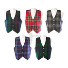 MENS' WAISTCOAT / VEST - CHOICE OF GENUINE SCOTTISH TARTANS - RANGE OF SIZES!