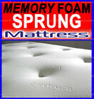 MEMORY FOAM MATTRESS NEW DOUBLE 4FT6 5FT KING SIZE SOFT TOUCH COVER