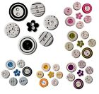 LOT 7 BOUTONS EN CARTON CHIPBOARD ETOILE RAYURES POIS SCRAPBOOKING A COLLER
