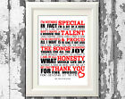ABBA Thank You For The Music Song Lyric Posters Lyric Music Art Typography Print