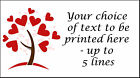 Heart Tree Personalised Stickers ~ mini or medium size labels