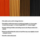 Three Core Round Braided Vintage Style Silk Fabric Cable for Lighting CORD flex