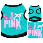 Pet Puppy Small Dog Cat Clothes Vest T Shirt Apparel PINK DOG Costume Summer