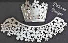 DAISIES Off-White/ Gold Pearlescent Laser Cut Daisy Cupcake Wrapper Wraps UK